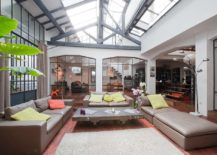 Awesome industrial sunroom fill of light