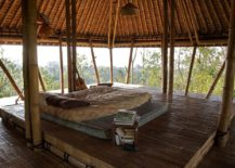 Awesome open air hangout surrounded by mountains of Bali transports you into tropical paradise