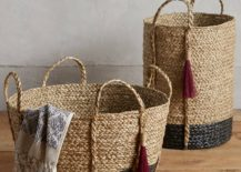 Balinese baskets from Anthropologie