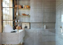 Bathroom and shower area in concrete