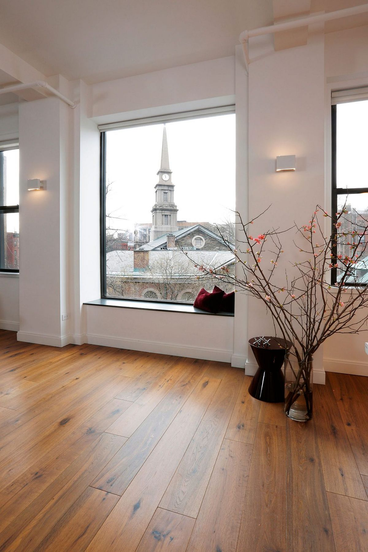 Beautifully framed views grace the New York City apartment
