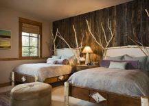 Birch-wood-and-reclaimed-wood-wall-are-perfect-for-the-comfy-rustic-bedroom-217x155