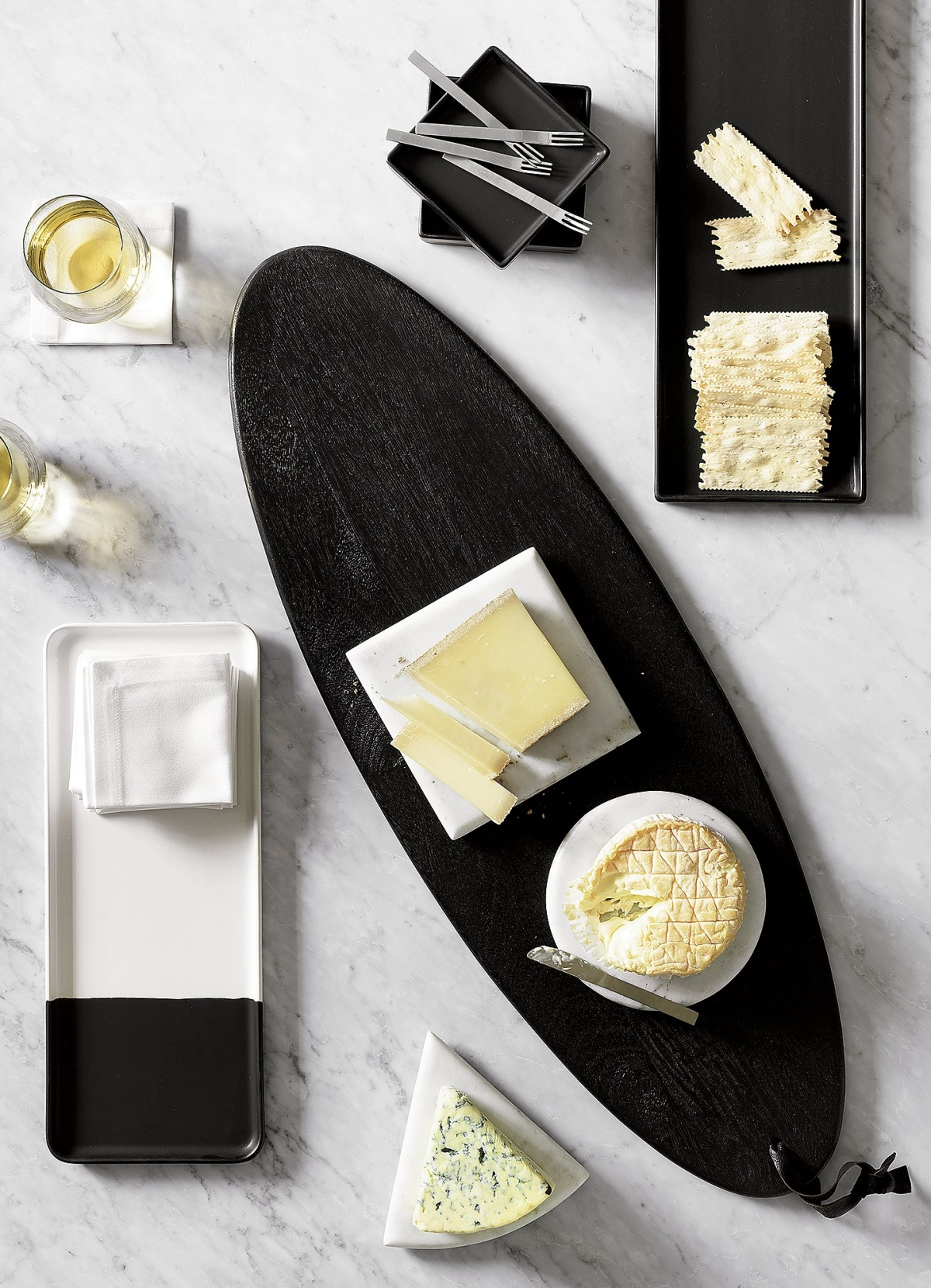 Black and white serveware from CB2