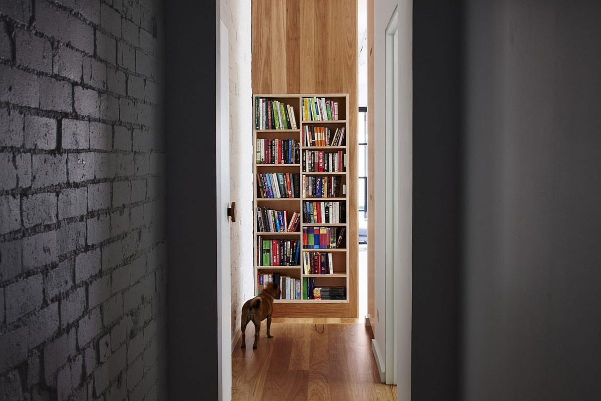 Bookshelf brings color to the interior