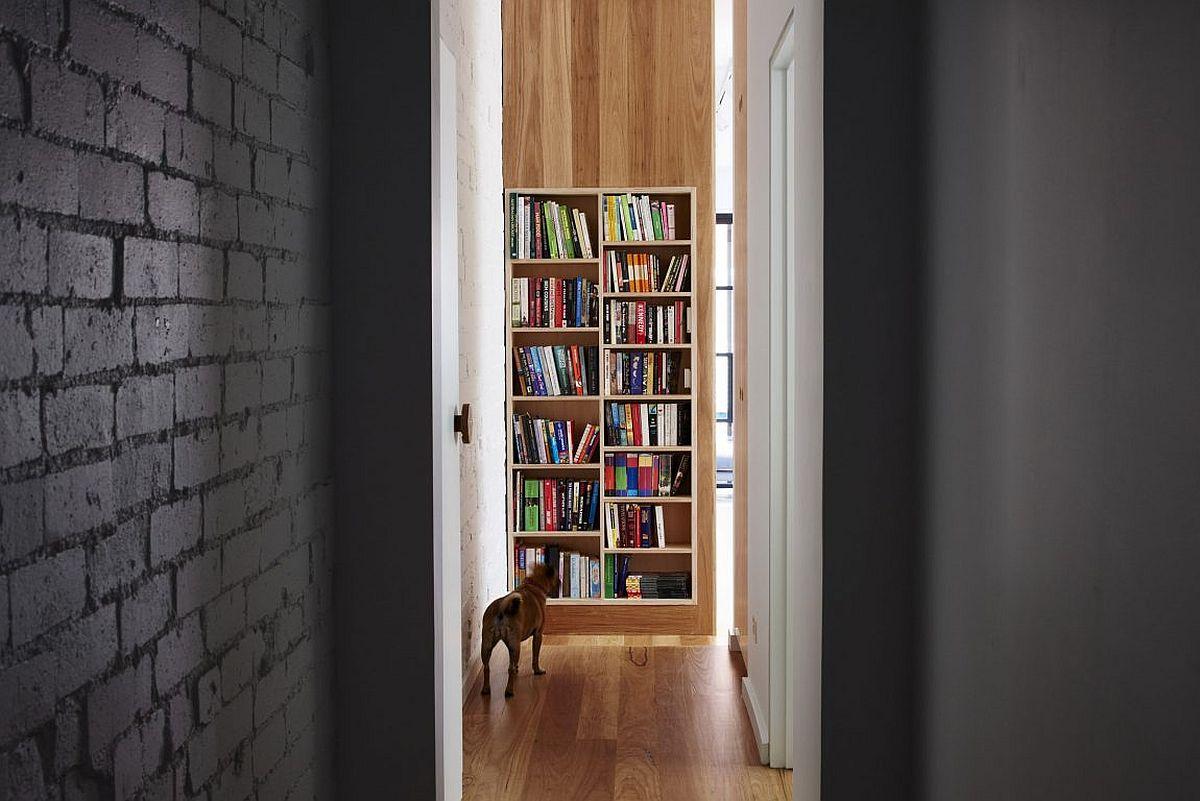 Bookshelf brings color to the interior