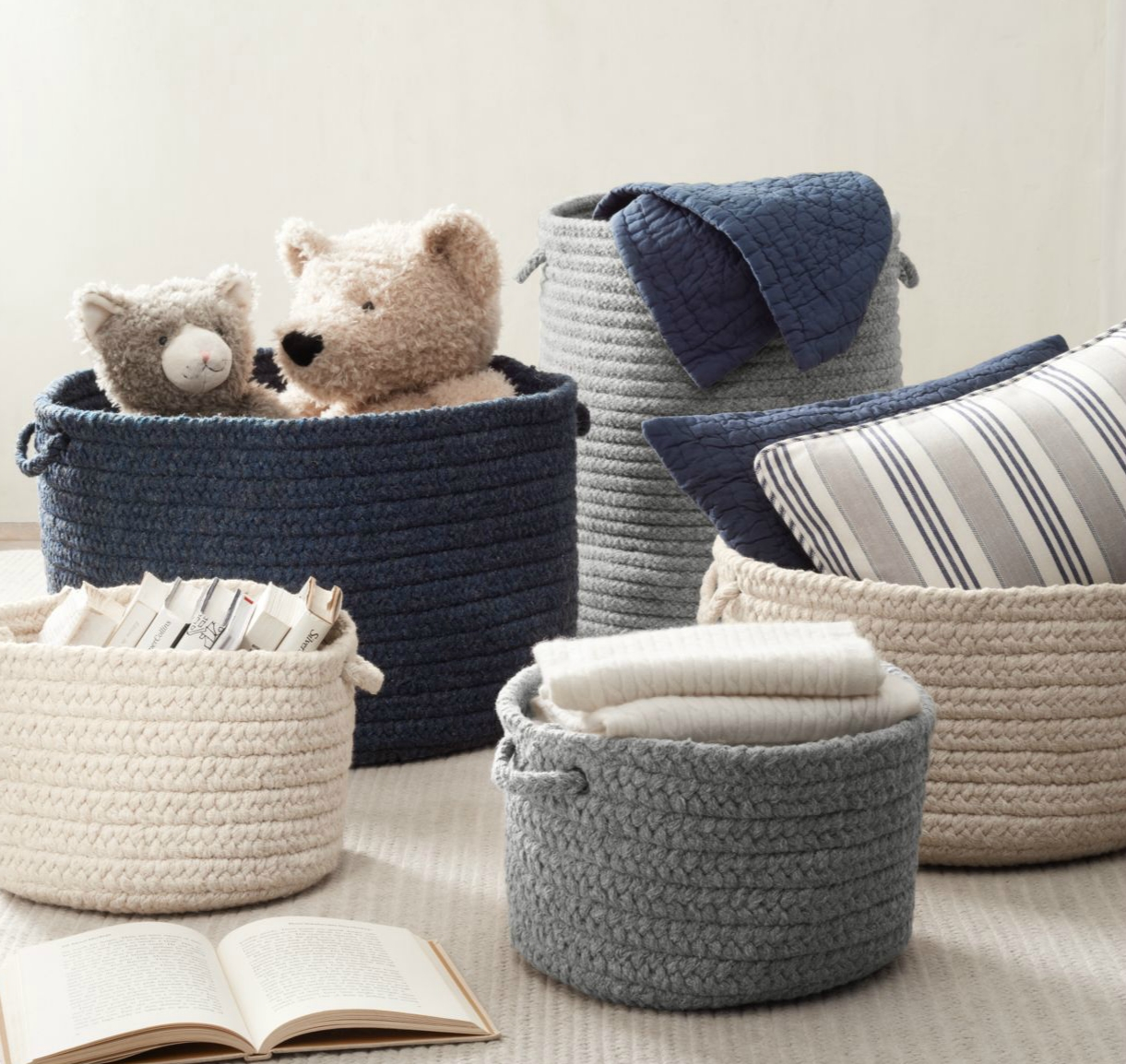 Braided baskets from RH Baby & Child