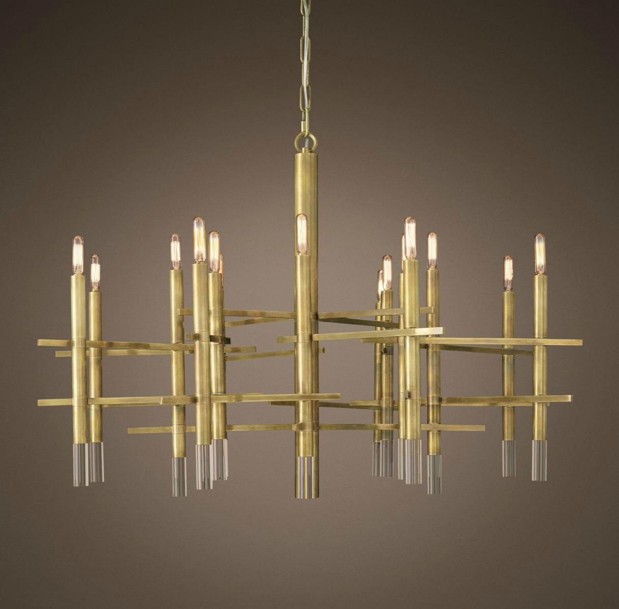 Brass chandelier by Restoration Hardware