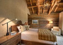 Cabin style bedroom with woodsy charm