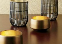 Candle holders from Crate & Barrel