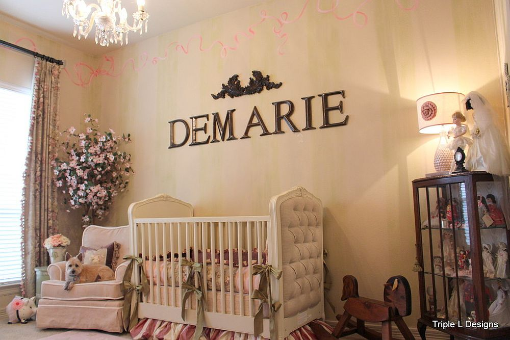 Classic touches coupled with industrial flair by Triple L Designs in this cool nursery