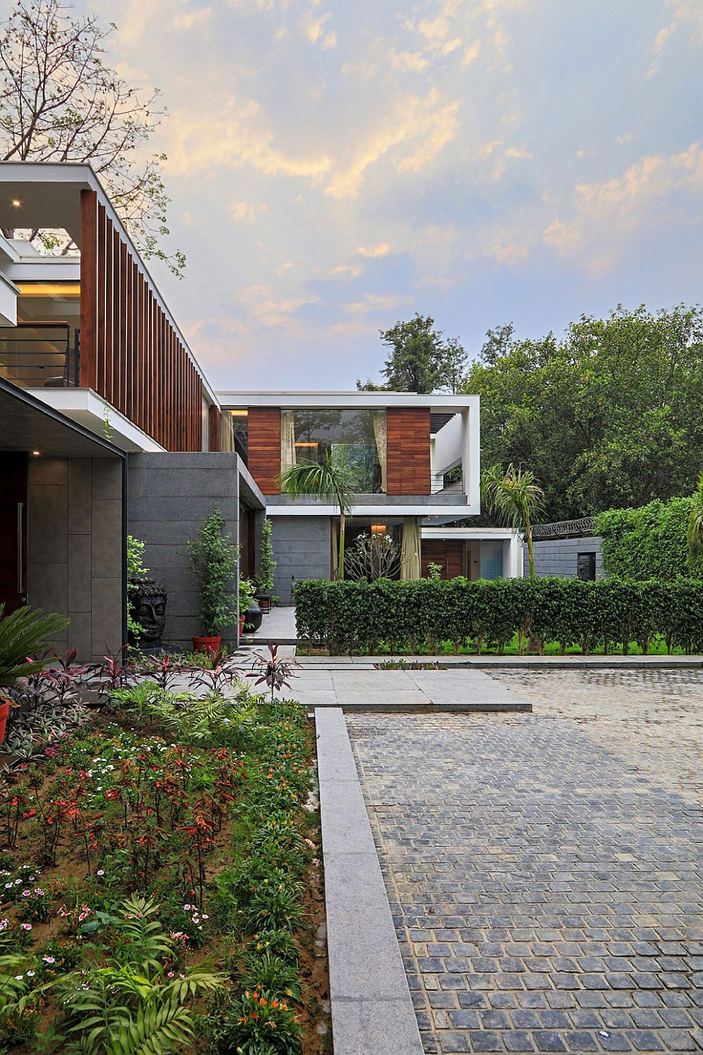 Clean lines and simple design give the expansive home a modern vibe