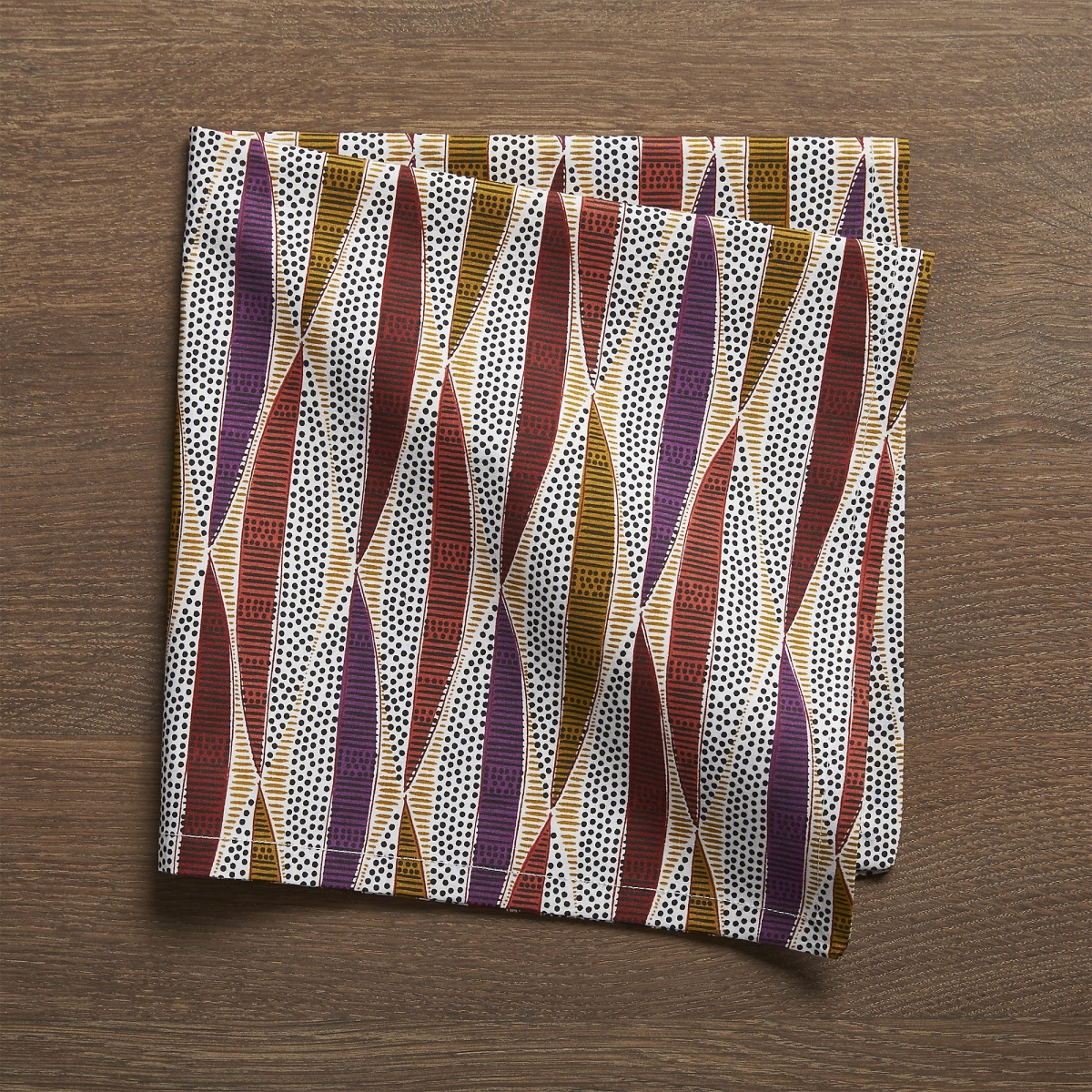 Cloth dinner napkin in fall colors