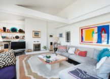 Colorful living room photographed by Colin Cadle
