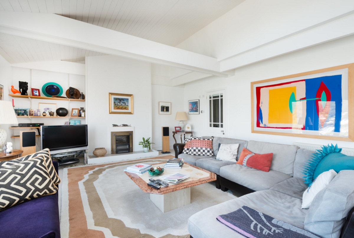 Colorful Living Room Photographed By