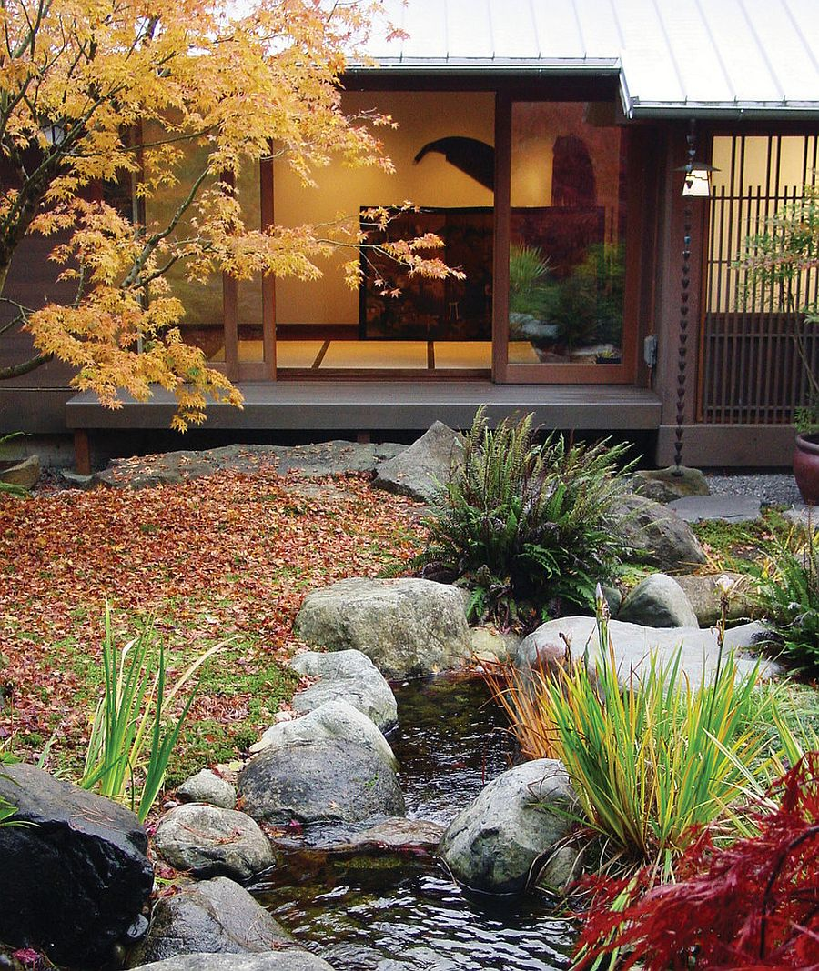 Colorful plants and flora give the Asian garden a delightful visual appeal [Design: Hoshide Wanzer Architects]