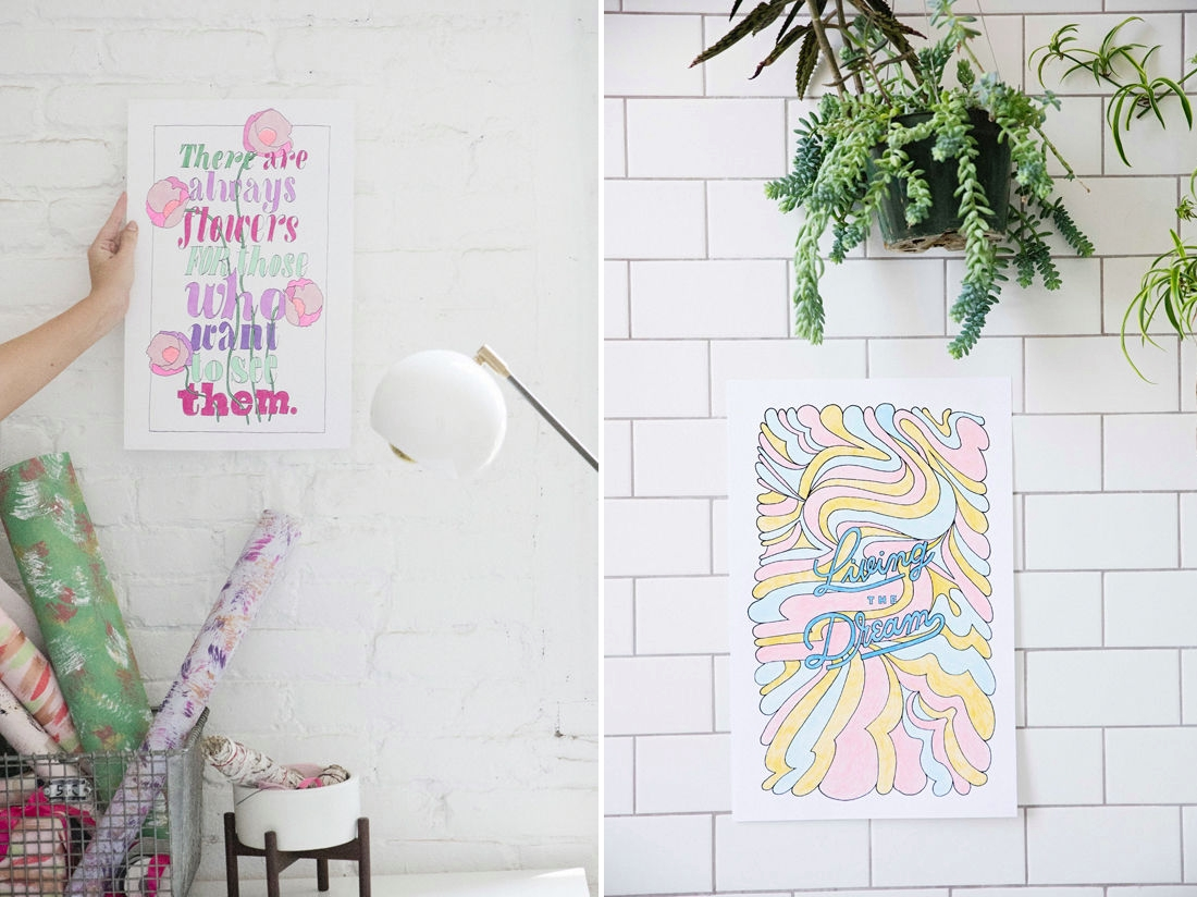 Coloring posters from Design Love Fest