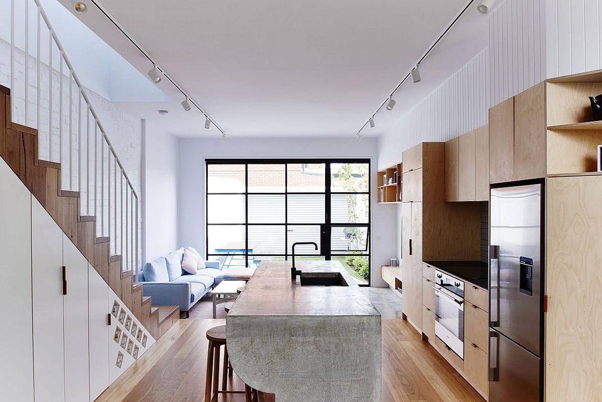 Cool kitchen island stands out from the usual