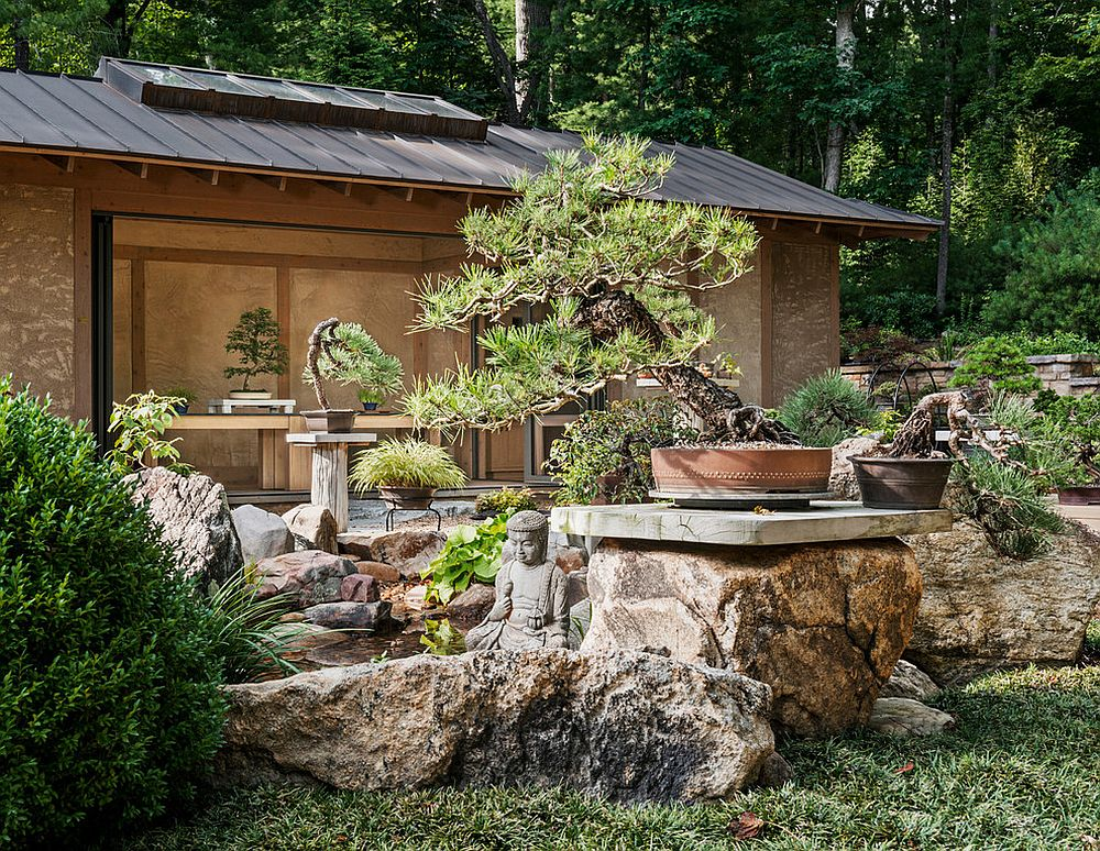 Create a smart outdoor living space and relaxing hangout with the tranquil Asian garden [Design: Samsel Architects]