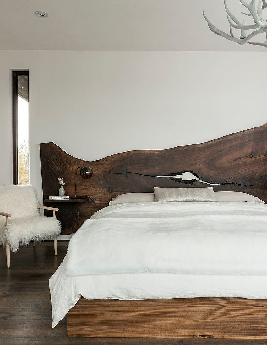 Create your own DIY live edge headboard [Design: Pearson Design Group]