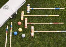 Croquet set for a backyard picnic