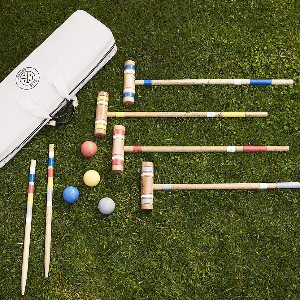 Croquet set for a backyard picnic