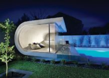 Custom contemporary pool house inspired by waves!