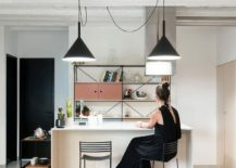 Custom kitchen island and decor for the apartment designed by Studio AUTORI