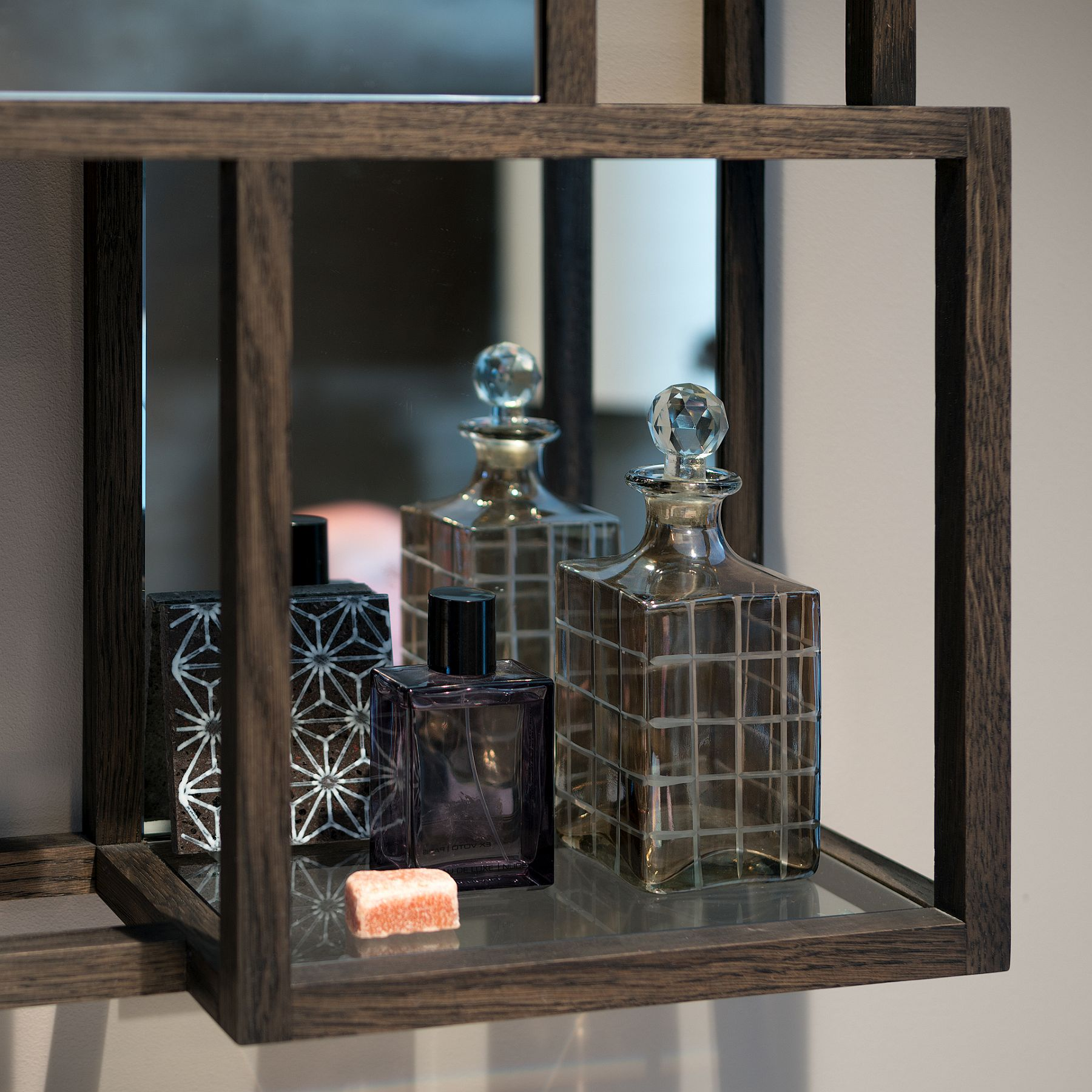 Custom wooden medicine cabinet for the modern bathroom