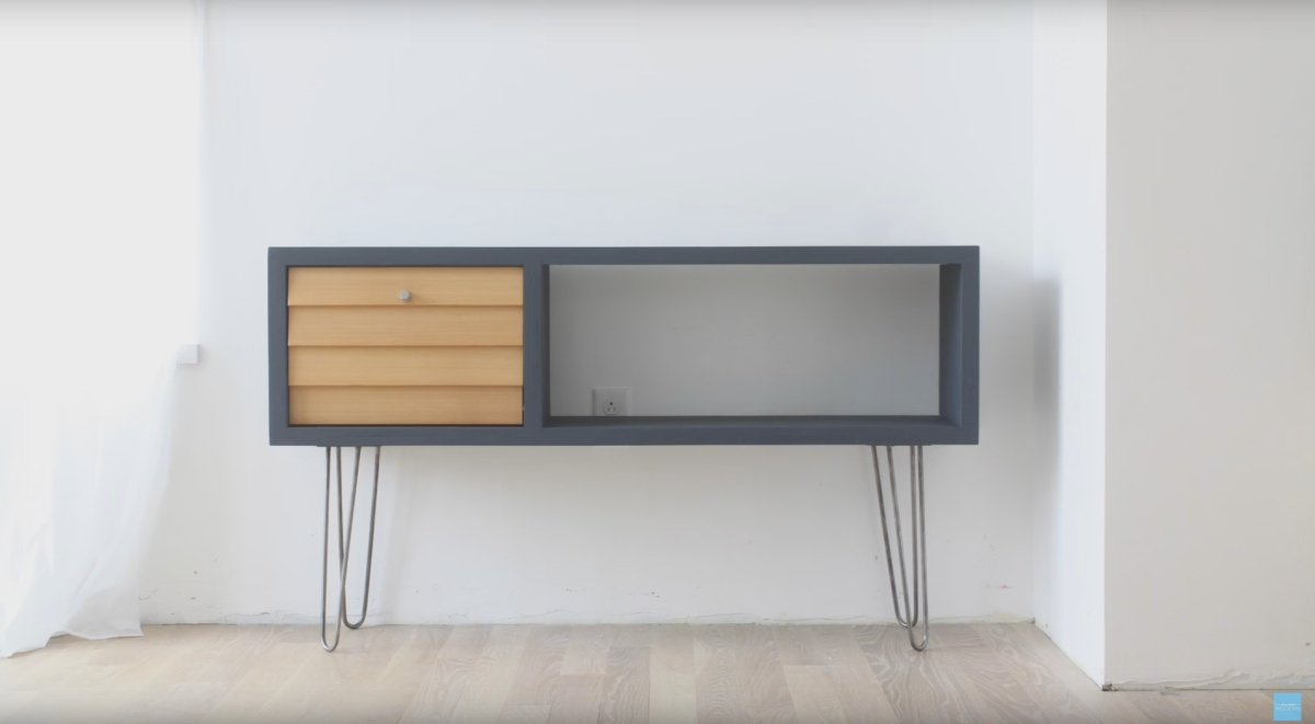 DIY Media Console from HomeMade Modern