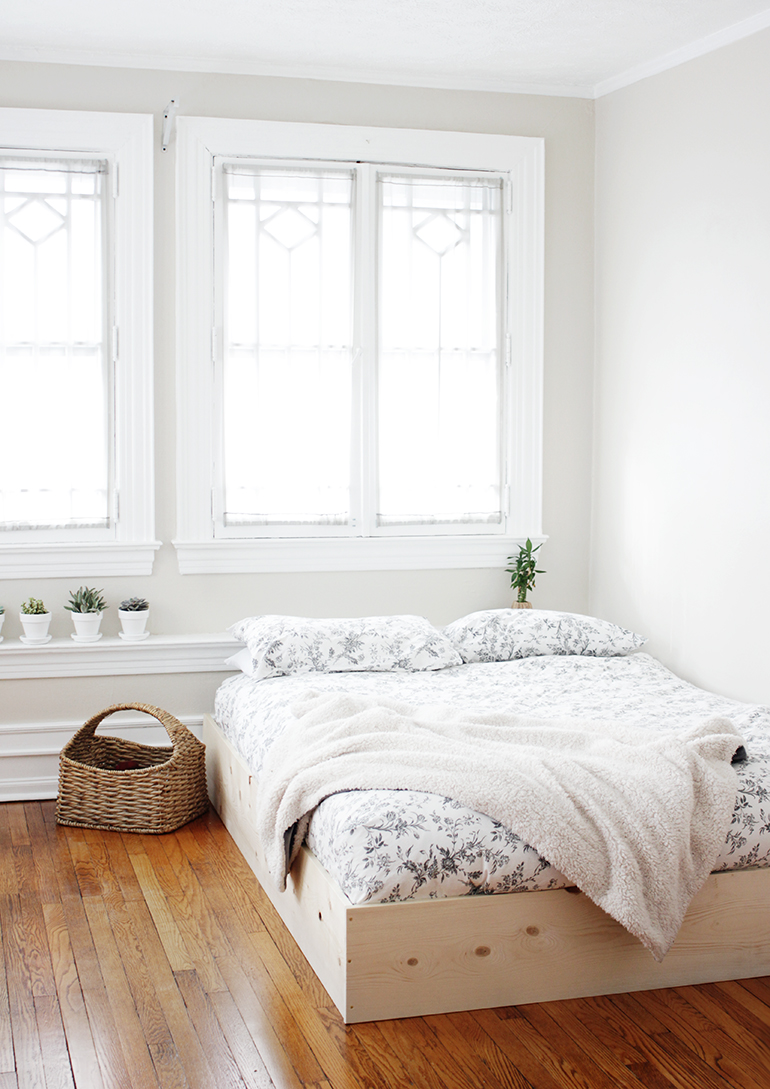 DIY bed frame from The Merrythought