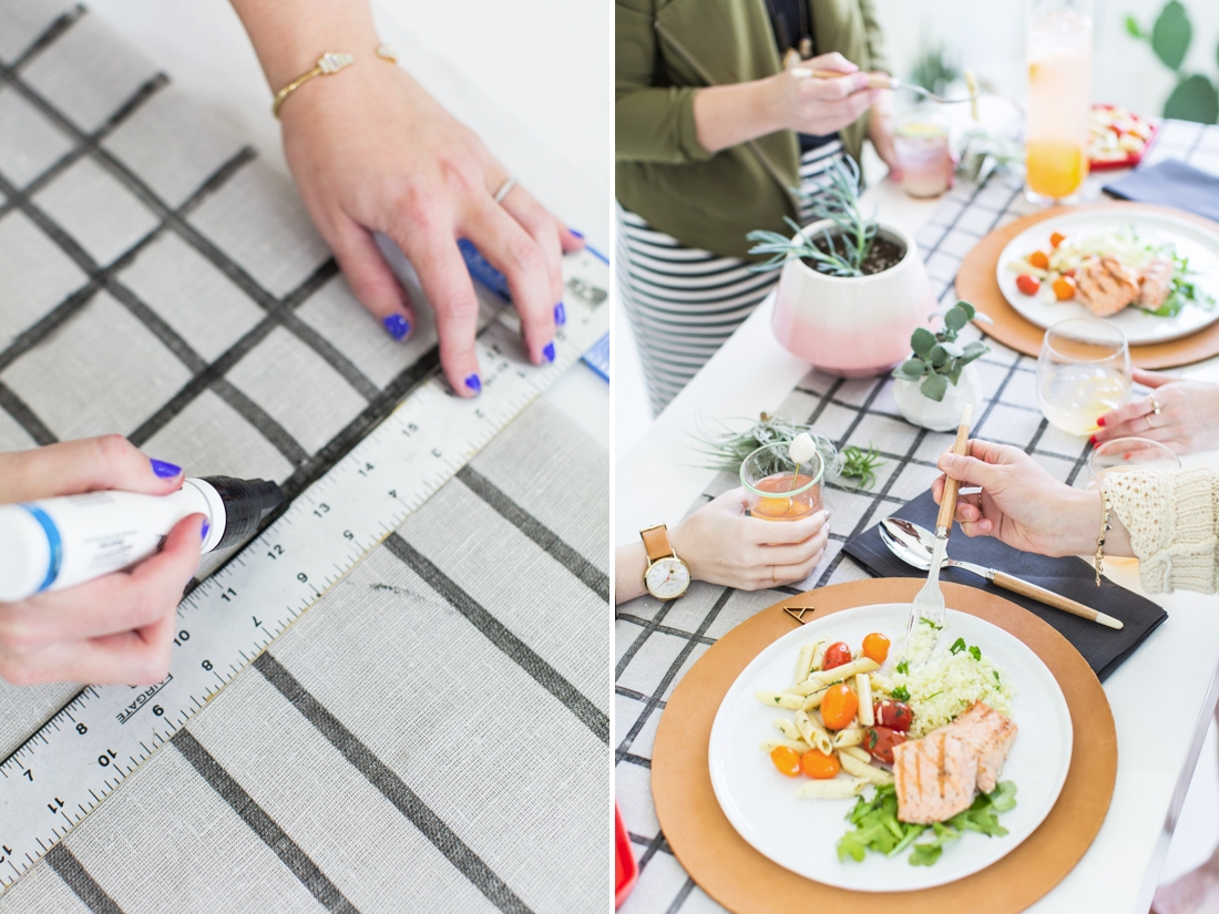 DIY grid table runner from Paper & Stitch