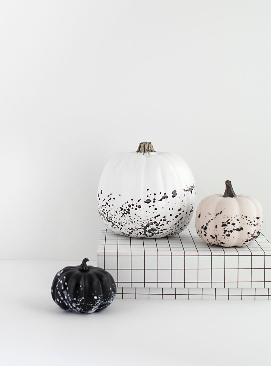 DIY splatter paint pumpkins from Homey Oh My!
