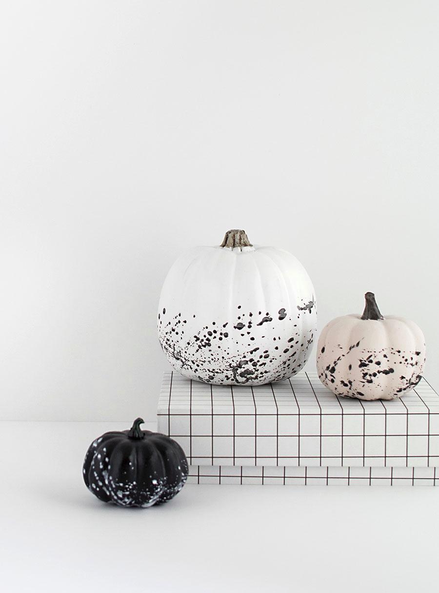 DIY splatter paint pumpkins from Homey Oh My!