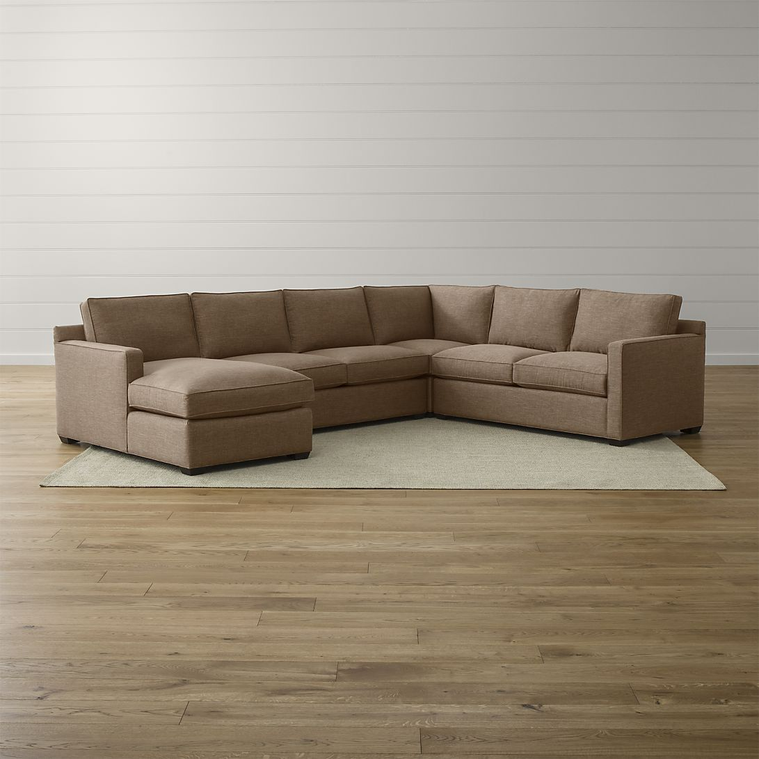 Davis 4-Piece Sectional Sofa in Mink