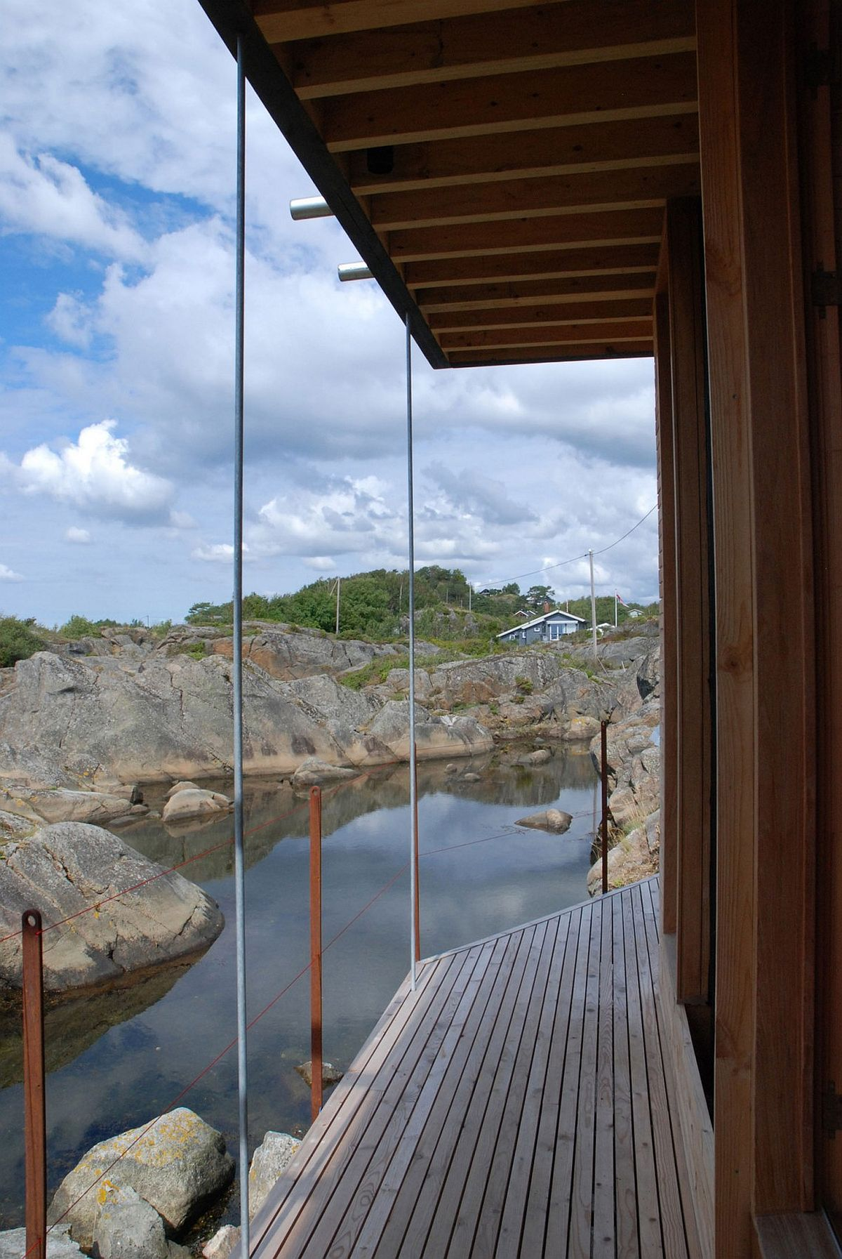 Design of the island retreat offers protection from the elements