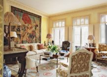 Drawing room with eclectic style