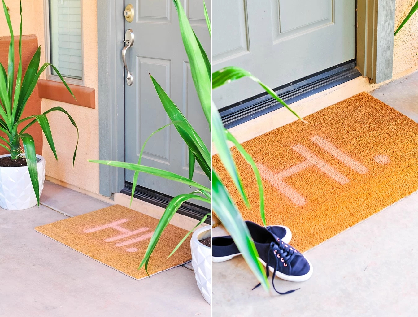 Easy DIY doormat from Proper