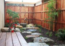 Elegant and small Asian style garden and courtyard design