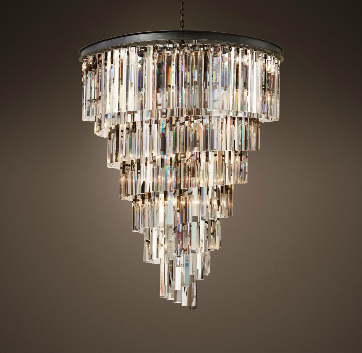 Elegant chandelier by Restoration Hardware