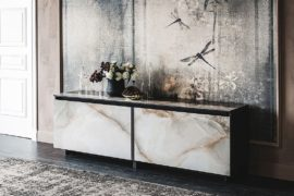 Cool Contemporary Sideboards Usher in Geo Style and Textural Charm