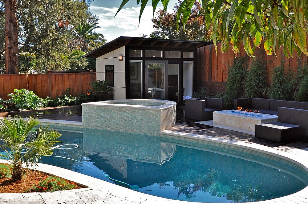 ... Even The Smallest Gardens Can Contain A Pool And A Pool House [Design:  Studio
