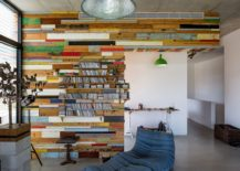 Exceptional bookcase crafted from reclaimed wood 217x155 LaHO: Breezy Israeli Home Inspired by the Design of a Lifeguard Tower