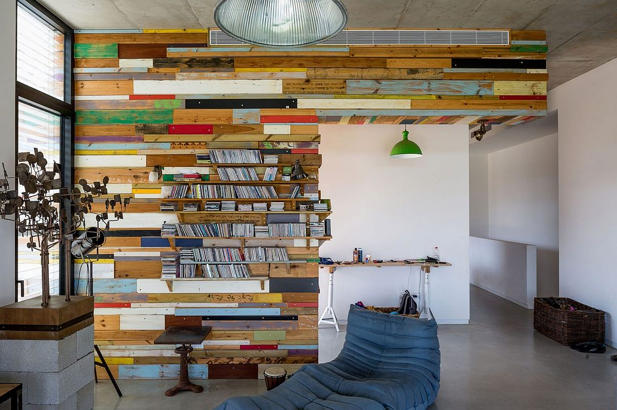 Exceptional bookcase crafted from reclaimed wood