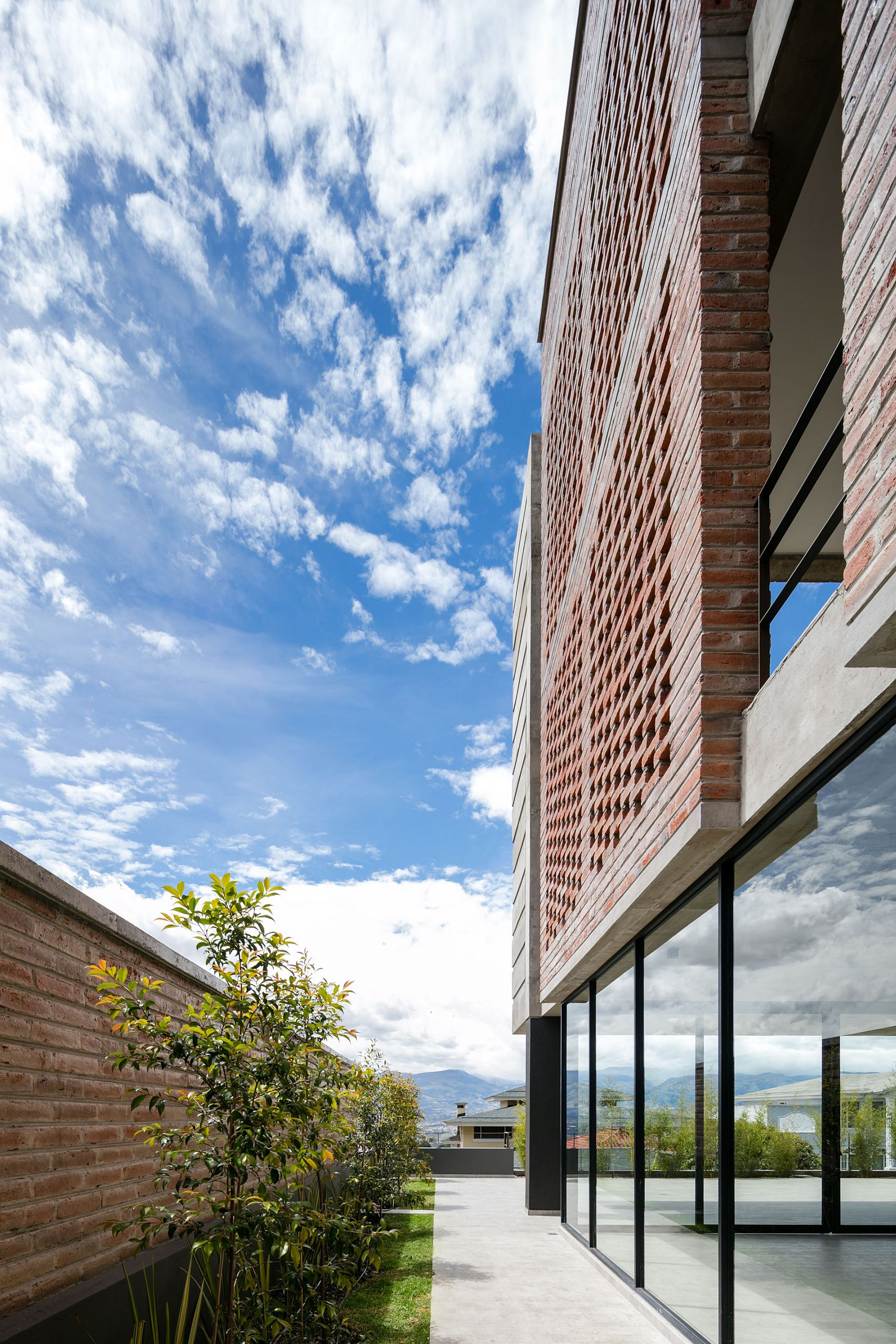 Fabulous combination of brick, glass and concrete at the Apartment Building