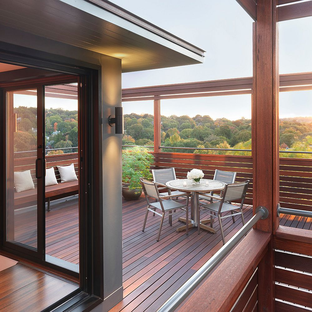 Fabulous modern mahogany rooftop deck with forest views [Design: Flavin Architects]
