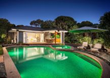 Fabulous pool house with al fresco dining and comfy seating for guests