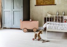 Fabulous vintage industrial nursery that grows along with your little one