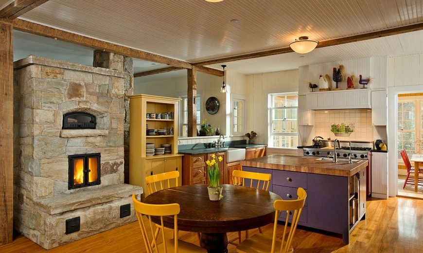 Hot Trends: Give Your Kitchen a Sizzling Makeover with a Fireplace!
