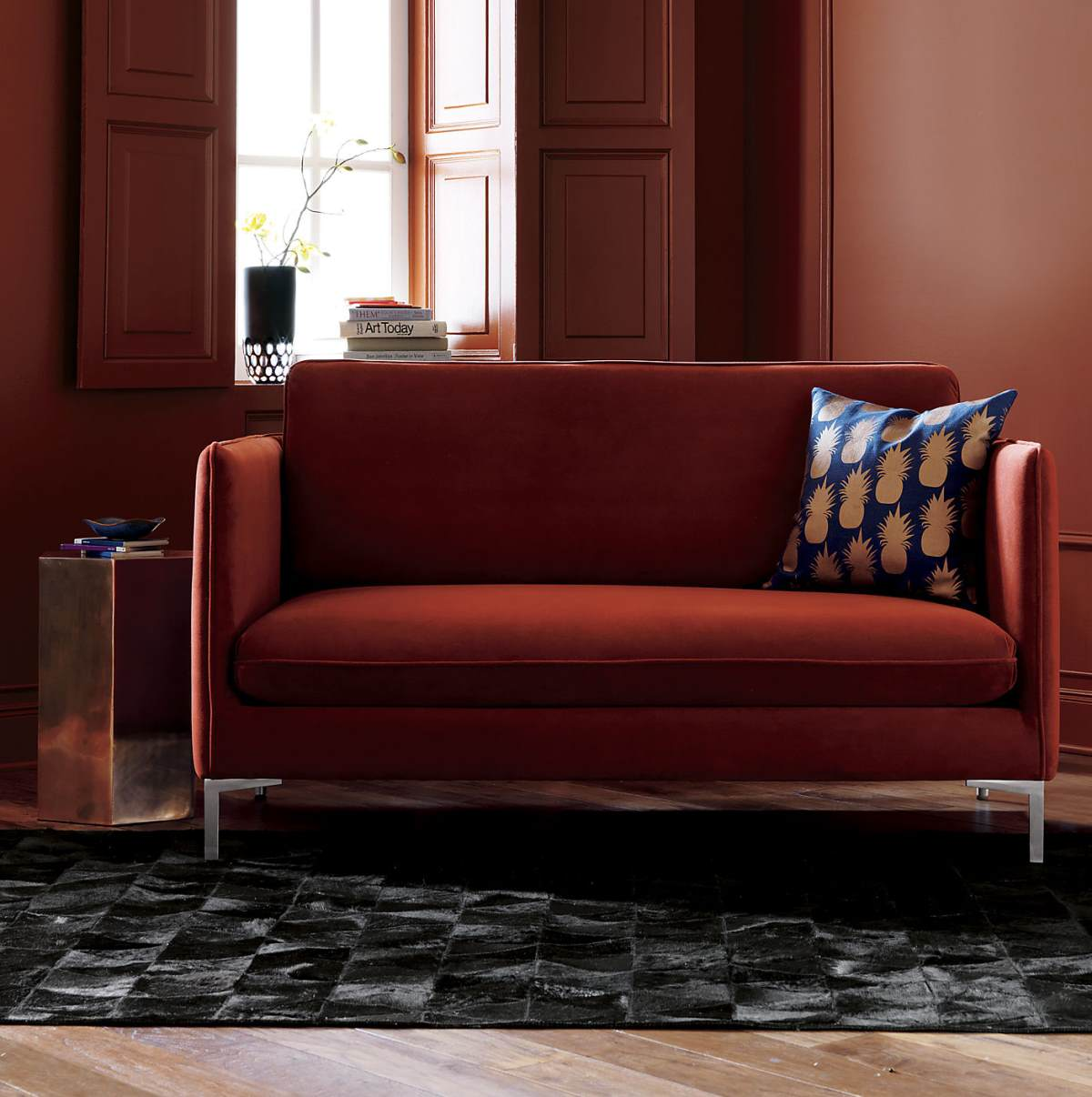Flatiron Rouge Apartment Sofa with slim arms