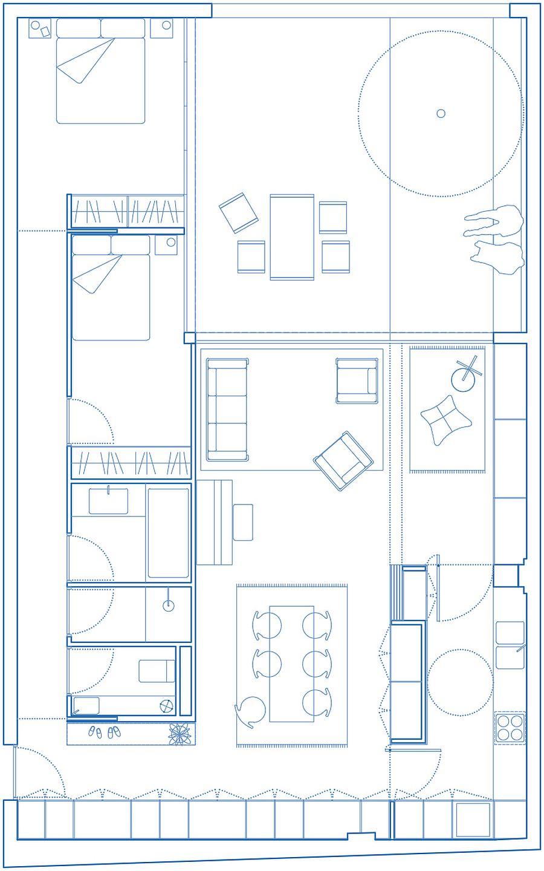 Floor plan of Cloys Apartment in Paris